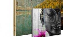 Foto op houten planken