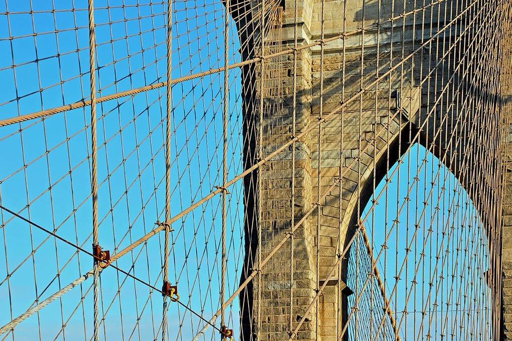 Staalkabels van de Brooklyn Bridge