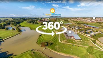 Golfbaan Haverleij van boven gezien in op interactieve dronefoto