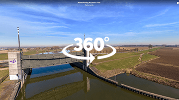 Waterkering Kromme Nol in 360 graden